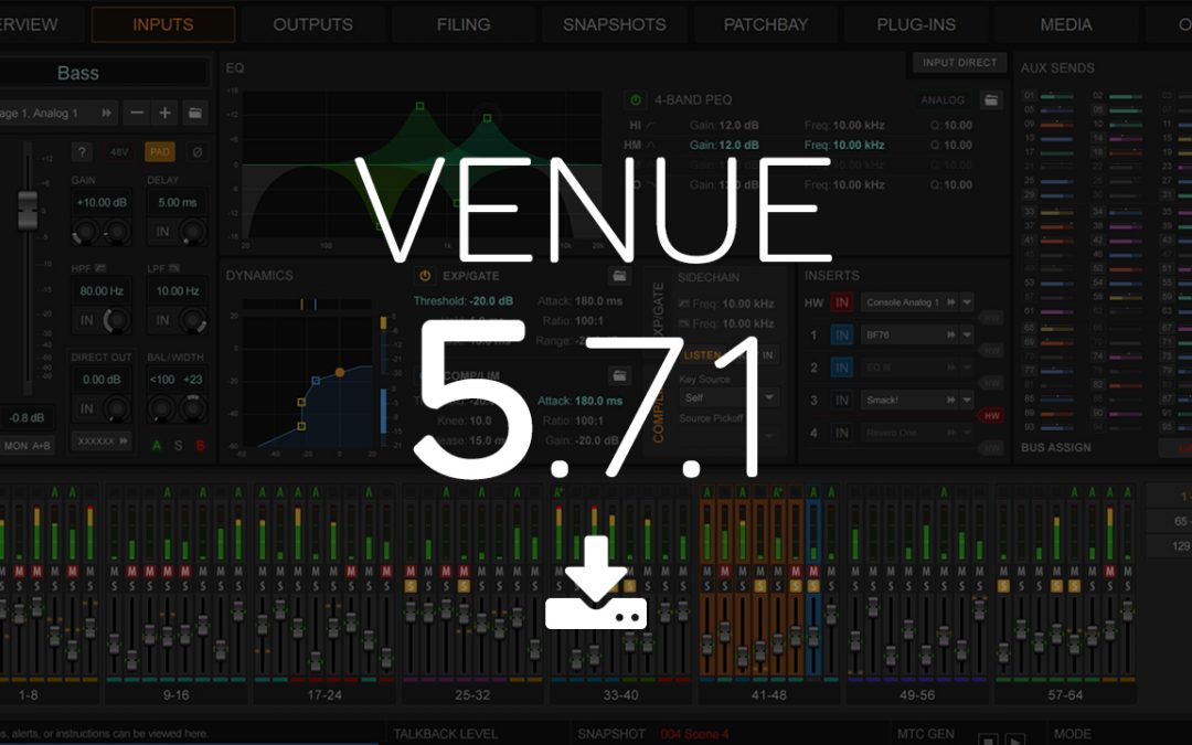 Venue Software Update 5.7.1