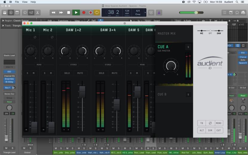 Audient iD Serie mit neu gestalteter Mixer-APP