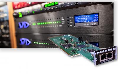 Avid MTRX 128-chanel IP Audio Dante Card