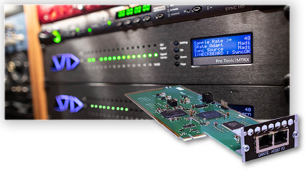 Avid MTRX 128-chanel IP Audio Dante Card