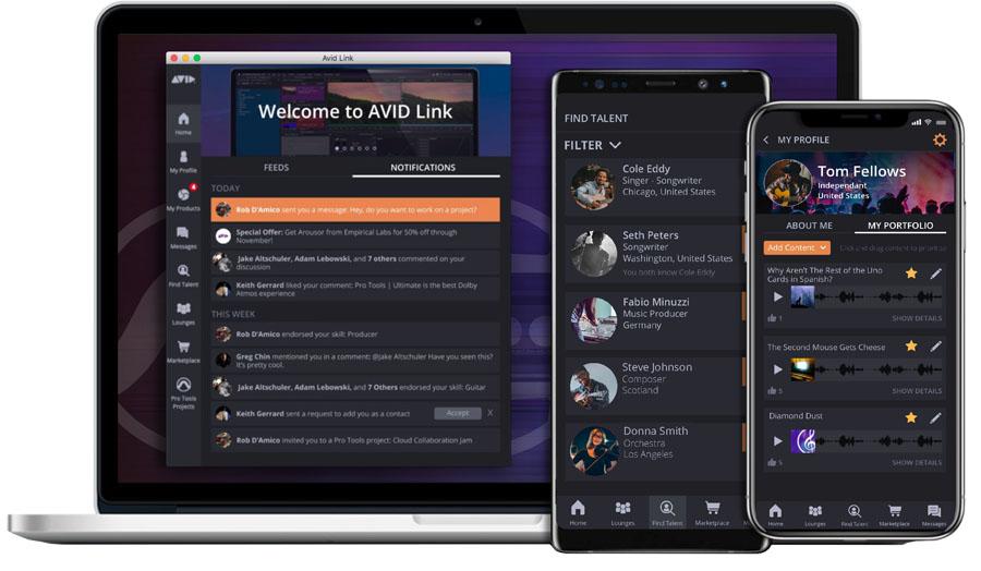 AvidLink 2019.1   –   zur NAMM veröffentlicht