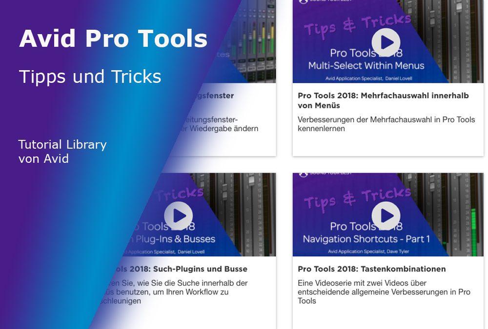 Avid Pro Tools Tipps & Tricks