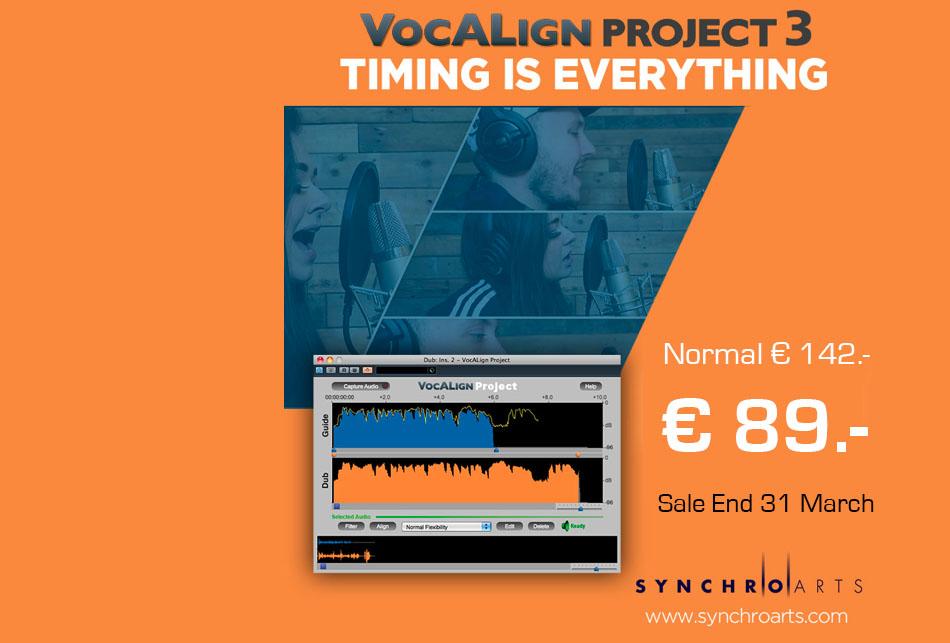 VocAlign Project 3 Special noch bis 31. März