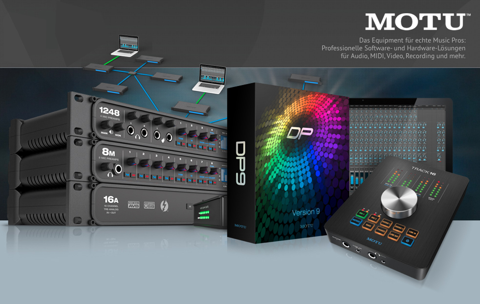 MOTU Interfaces der AVB Reihe