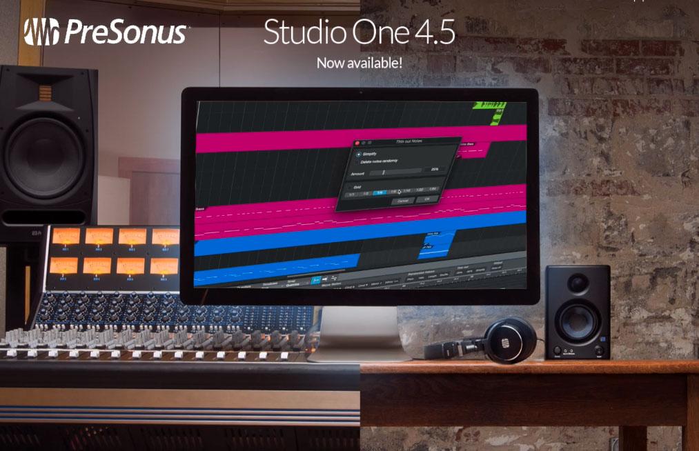 Presonus Studio One 4.5 verfügbar