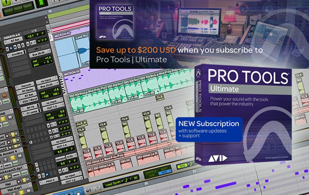Pro Tools Ultimate Subscription – Save 20%
