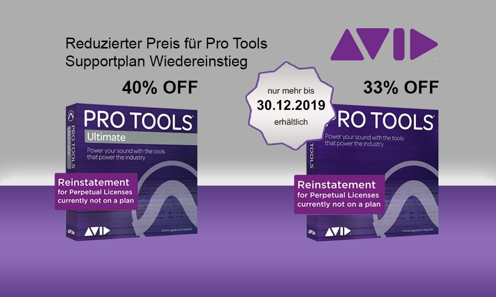 Pro Tools Upgradeplan NEW nur mehr bis 30.12.2019