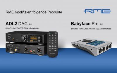 RME modifiziert ADI-2 DAC und Babyface Pro FS