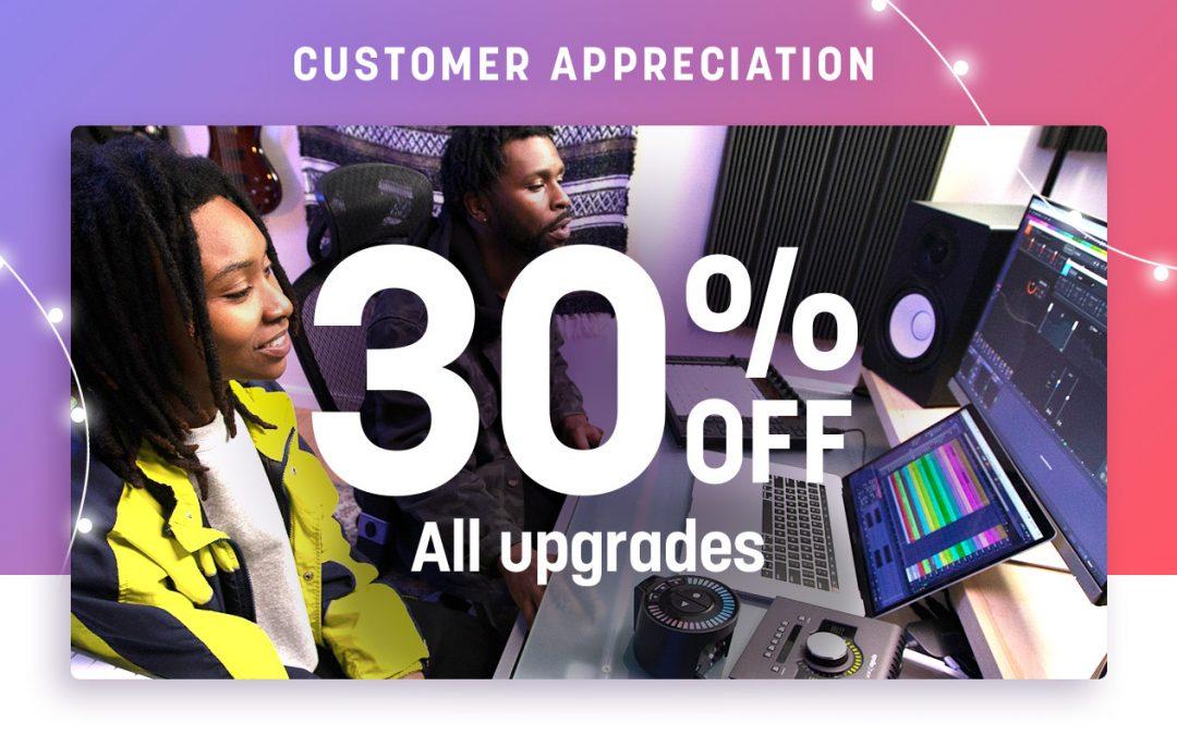 iZotope 30% Rabatt auf alle Upgrades