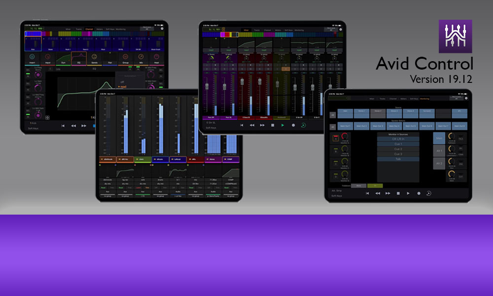 Avid Control – New Features with 2019.12