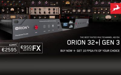 Antelope Orion 32+|GEN3 jetzt mit 10 FX Free