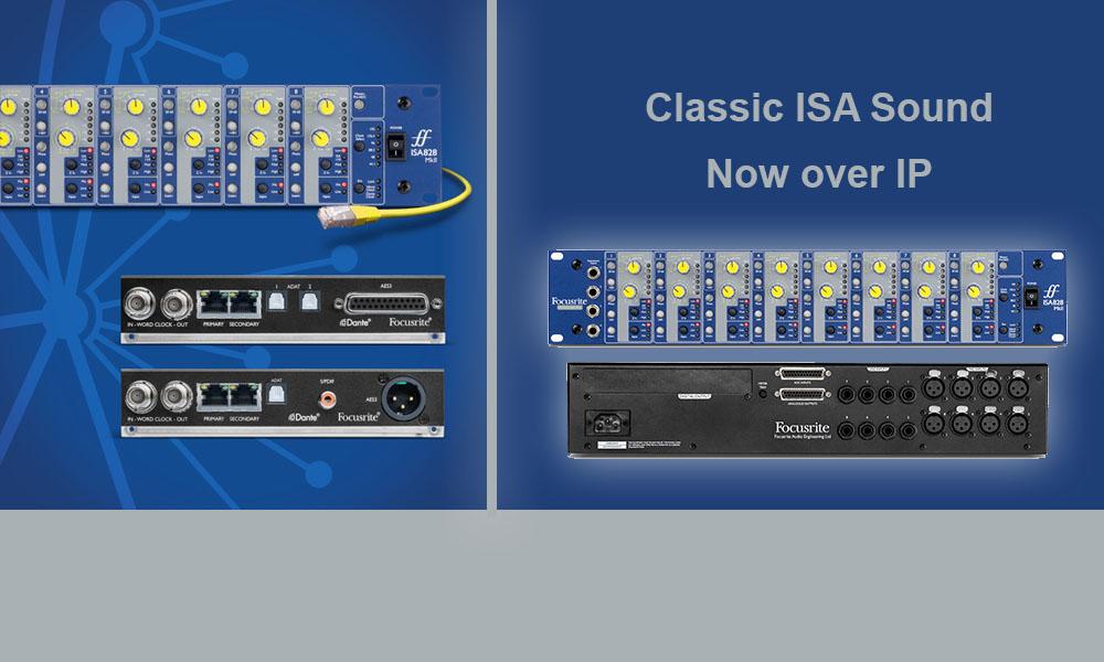Focusrite ISA-Reihe jetzt auch für Dante Netzwerke