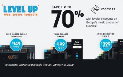 iZotope Jänner Promotion ab 16. Jänner 2020