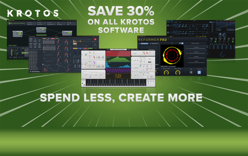 Save 30% on all Krotos Audio Software