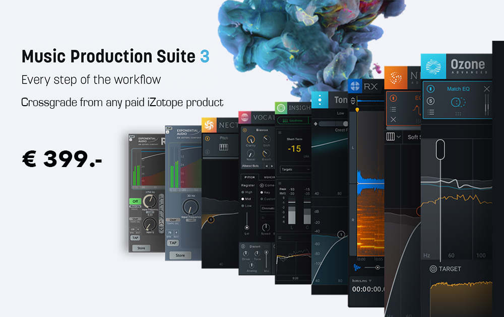 iZotope Mai Promotions – up to 75%