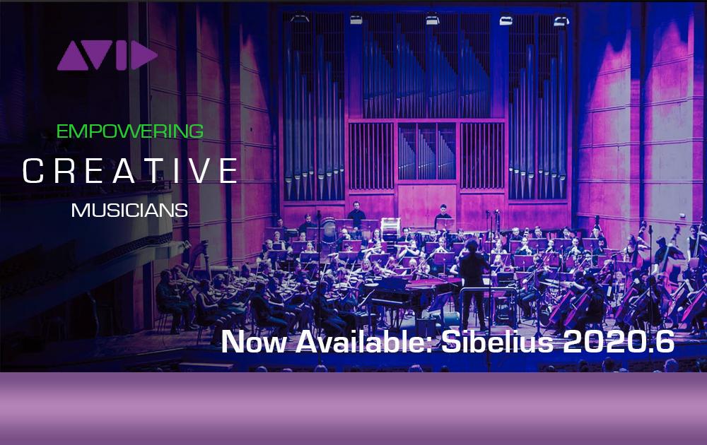 Avid Sibelius 2020.6 verfügbar