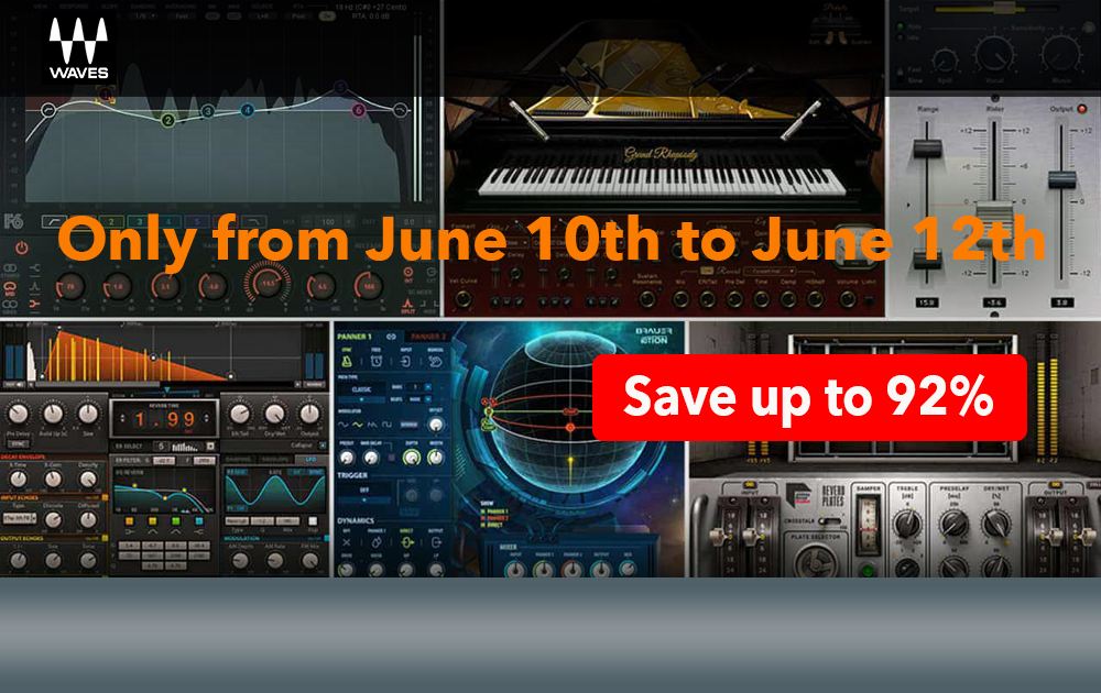 Waves Special Plug-ins Sale on June