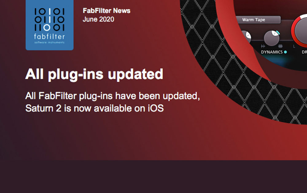 Fabfilter – Updates for all plug-ins