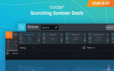 iZotope – Scorching Summer Deals