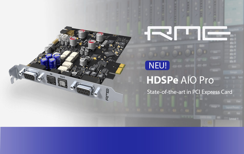 RME präsentiert die neue HDSP AIO Pro