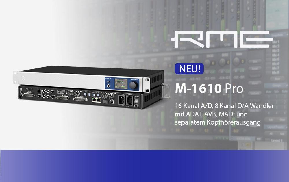 RME M-1610 Pro ab sofort erhältlich