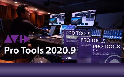 Avid Pro Tools 2020.9 verfügbar