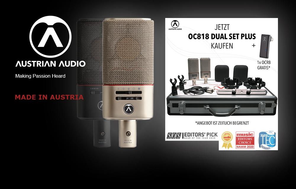 NEU: Austrian Audio OC818 Dual Set Plus