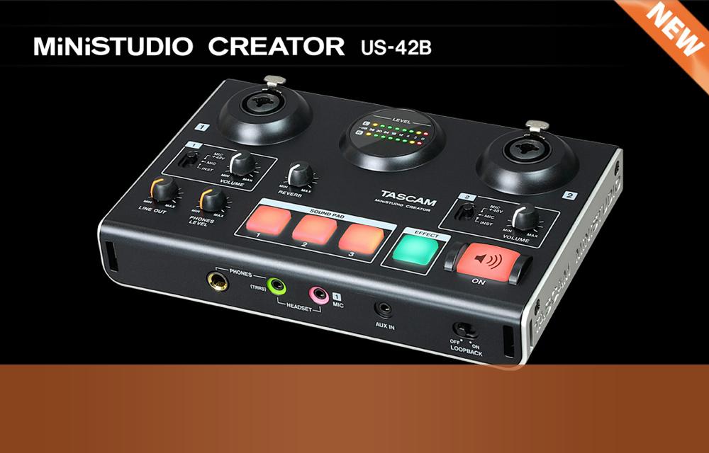 NEU: Tascam MiniStudio Creator US-42B