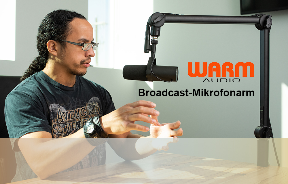 Neu: Professioneller Broadcast-Mikrofonarm