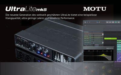 NEU: MOTU UltraLight-mk5 Interface