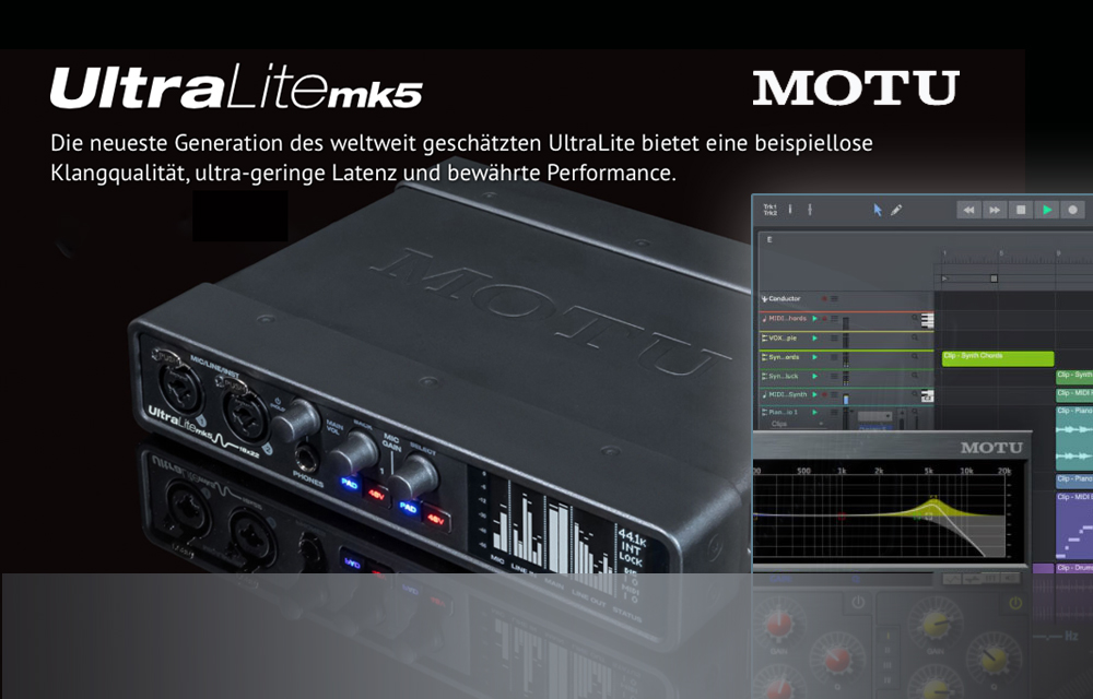 NEU: MOTU UltraLight-mk5 Interface