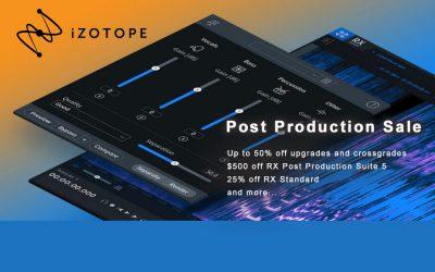 iZotope Post Production Sale noch im April