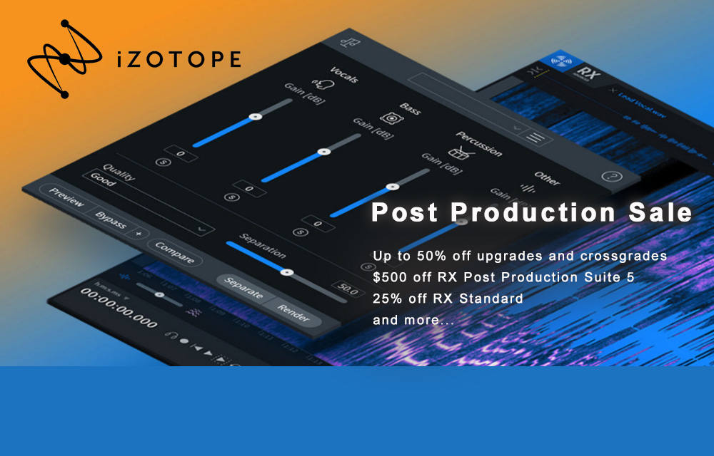 iZotope Post Production Sale noch im April
