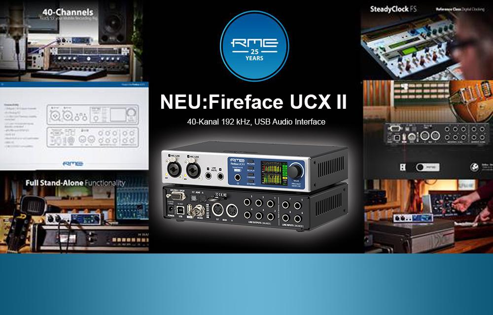 Neu: RME Fireface UCX II USB Audio Interface