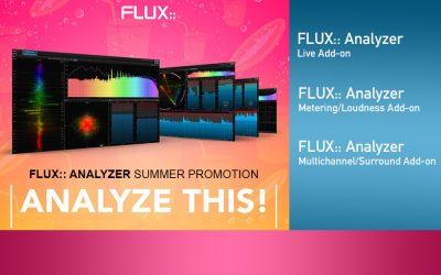 Flux:: Analyzer Summer Promotions